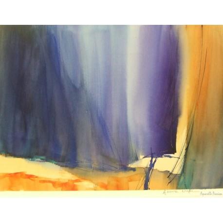 Rideau de th atre aquarelle passion - Rideau 160 de large ...
