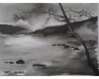 Paysage noir et blanc